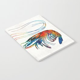 Colorful Shrimp Art by Sharon Cummings Notebook