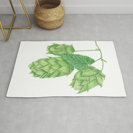 Beer Hop Flowers Rug