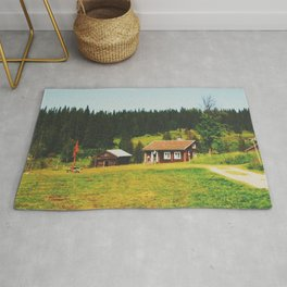 Cabin in the north of Sweden Rug