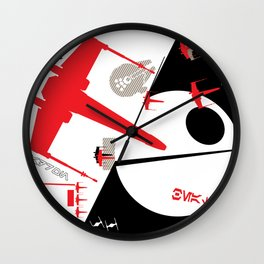Beat The Empire With A Red Squadron Wall Clock