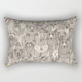 canadian animals natural Rectangular Pillow