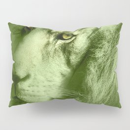 Fantasy Lion of Legend in Green-Glow Pillow Sham