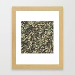 Forest alcohol camouflage Framed Art Print