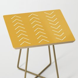 V / Yellow Side Table