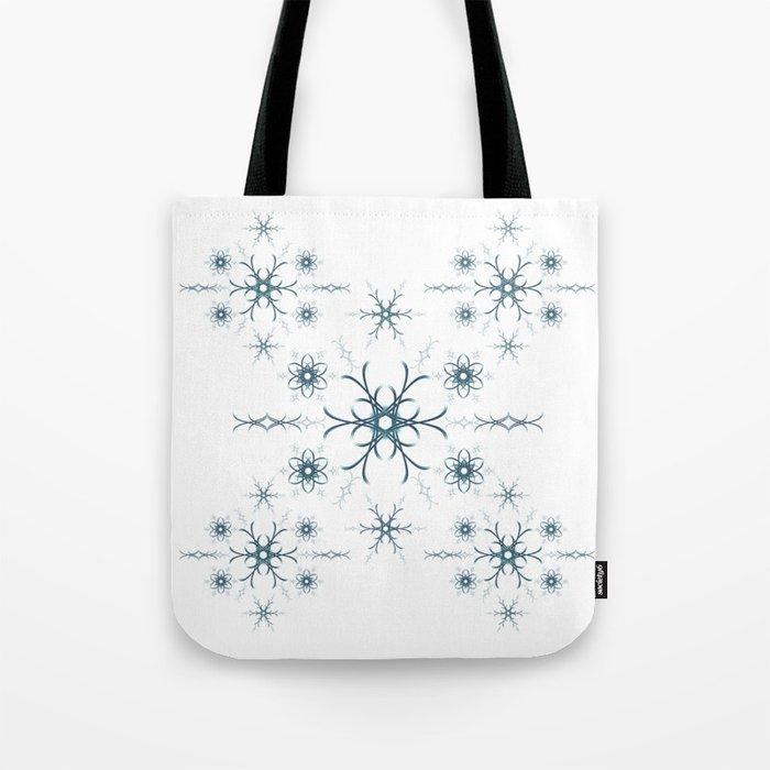 Blue flowers. Pattern. Tote Bag