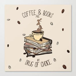 Coffee And Books Canvas Print