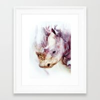 rhino Framed Art Prints featuring RHINO by beart24