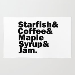 Starfish & Coffee & Maple Syrup & Jam Rug