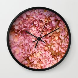 Dark Hydrangea Wall Clock