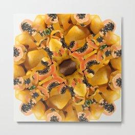 papaya mandala Metal Print