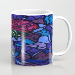 Stained Glass Rose Coffee Mug