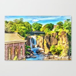 Paterson Great Falls in National Historical Park Canvas Print