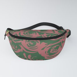 An Abstract Flower Garden of Roses in Green & Pink Fanny Pack