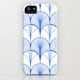 Art Deco Blue #pattern #illustration iPhone Case