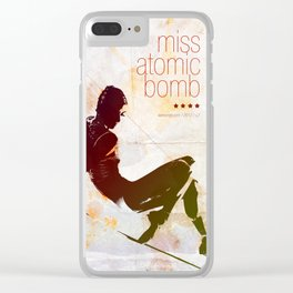 Miss Atomic Bomb. V2 Clear iPhone Case