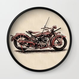 1928 Indian Scout Wall Clock