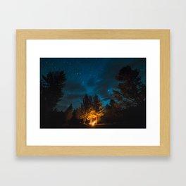 Camp is Where the Light Is Framed Art Print