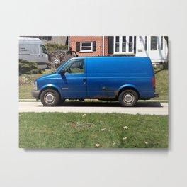 Blue Van Metal Print