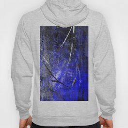 In The Dead Of Night - Textured Abstract In Blue, Black and White Hoody
