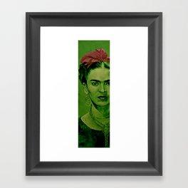 Frida Kahlo - red bow Framed Art Print