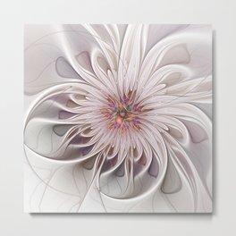 Floral Beauty, Abstract Fractal Art Metal Print