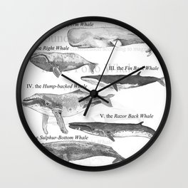 I. The Folio Whale Wall Clock