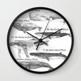 I. The Folio Whale Wall Clock