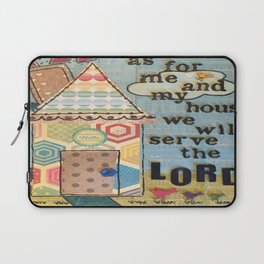 My House Will Serve The Lord Laptop Sleeve