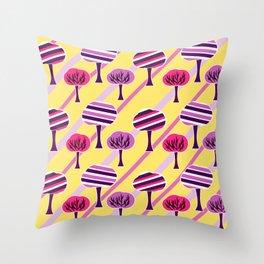 Happy trees Throw Pillow