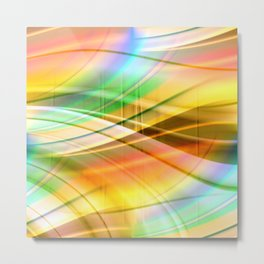 pattern pastel yellow and green Metal Print