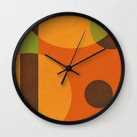 circles Wall Clocks featuring Circles by Farnell