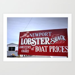 Lobster Shack- Newport, RI Art Print