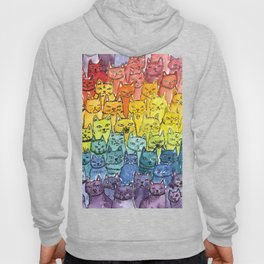 the pride cat rainbow  squad Hoody