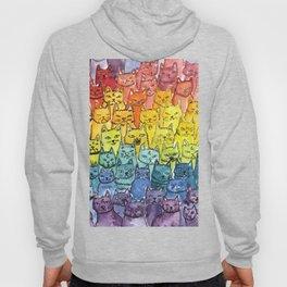 the pride cat rainbow  squad Hoody