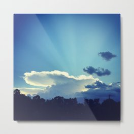 Cloud Anvil Metal Print