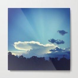 Cloud Anvil Metal Print