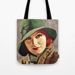 Greta Garbo, Hollywood Legend Tote Bag