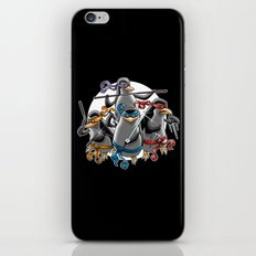 Ninja Penguins iPhone & iPod Skin