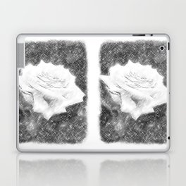 Pink Roses in Anzures 3 Charcoal Laptop & iPad Skin