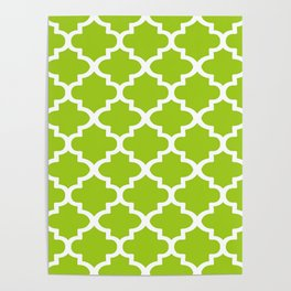 Arabesque Architecture Pattern In Lime Poster