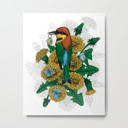 The bee eater with the golden pendant Metal Print