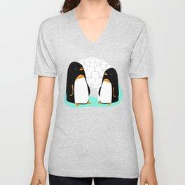 The Two Penguins Unisex V-Neck