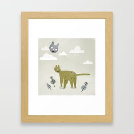 Cat in the Sky. Framed Art Print
