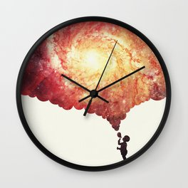 The universe in a soap-bubble! (Awesome Space / Nebula / Galaxy Negative Space Artwork) Wall Clock