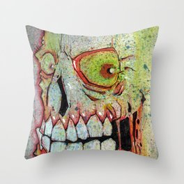 Entombed Throw Pillow