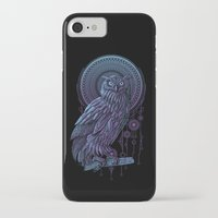 nouveau iPhone & iPod Cases featuring Owl Nouveau II by Jorge Garza