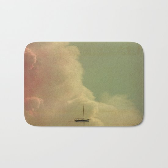 Once Upon a Time a Little Boat Bath Mat