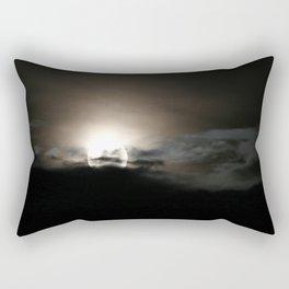 Full moon in clouds Rectangular Pillow