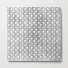 Grey & White Skulls Metal Print