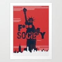 Mr_Robot Art Print